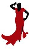 Dancing plump woman Royalty Free Stock Photos