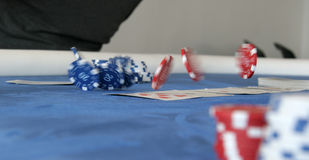 Dancing pokerchips Royalty Free Stock Images
