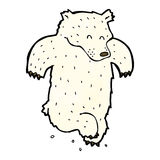 dancing polar bear cartoon Stock Images