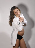 Dancing pregnant woman Royalty Free Stock Image