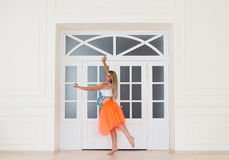 The dancing pregnant woman Stock Images