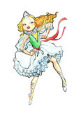 Dancing princess. Ballerina from child's tale royalty free illustration