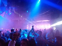 Nightclub. Dancing at PRYZM nightclub on a night out Royalty Free Stock Image