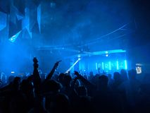 Nightclub. Dancing at PRYZM nightclub on a night out Royalty Free Stock Photo