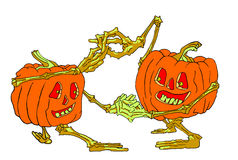 Dancing pumpkins Stock Photography