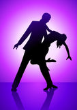 Dancing Purple Stock Image