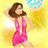 Dancing queen in the night club Stock Photography