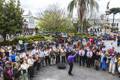 Dancing in Quito, Ecuador. This photo was taken in Quito, Ecuador at 4.00 PM. Quito, Ecuador's capital, sits high in the Andean foothills at an altitude of 2 Stock Photography