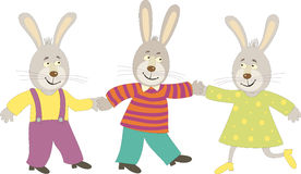 Dancing rabbits Stock Photography