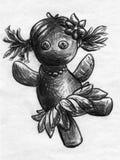 Dancing rag doll sketch royalty free stock image