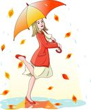 Dancing in the rain Royalty Free Stock Photo