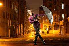 Dancing in the rain Stock Image