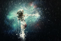 Dancing in the rain Stock Photography