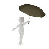 Dancing in the rain Royalty Free Stock Image