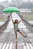 Dancing in the rain Stock Photography