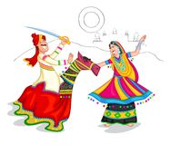 Dancing Rajasthani couple Royalty Free Stock Photo