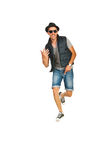 Dancing rapper man Stock Photography