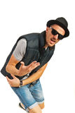 Dancing rapper man Royalty Free Stock Image