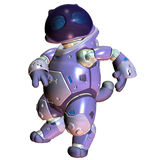 Dancing robot. 3d rendering dancing toy robot as illustration Royalty Free Stock Photography