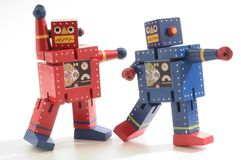 Dancing Robots royalty free stock image