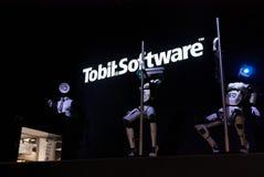 Dancing Robots and DJ, Cebit Stock Photos