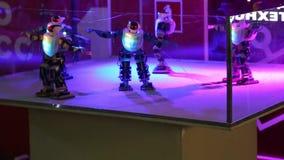 Dancing robots stock footage