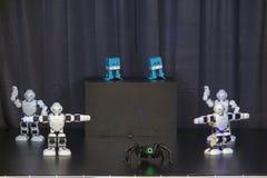 Dancing robots stock photo
