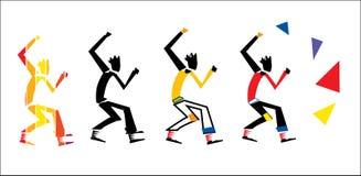 Dancing rock guy Royalty Free Stock Photos