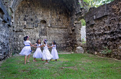Philippines - Four Girls Dancing Royalty Free Stock Images