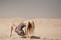 Dancing on the sand Royalty Free Stock Photo