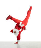 Dancing santa. Santa Clause dancing isolated on white background Royalty Free Stock Image