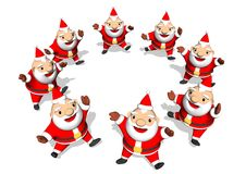 Dancing Santa Royalty Free Stock Photo