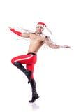 Dancing santa Stock Images