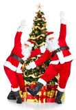 Dancing Santa Royalty Free Stock Photos