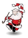 Dancing santa claus Stock Photos