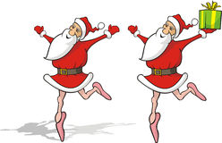 Dancing santa claus Royalty Free Stock Photos