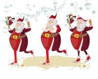 Dancing Santa. Royalty Free Stock Images