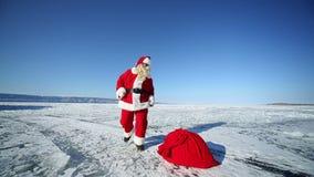 Dancing Santa Claus stock video