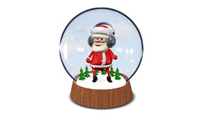 Dancing Santa Claus in Glass Sphere stock video