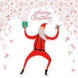 Dancing Santa Claus  illustration Stock Image