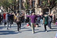Dancing the Sardana Stock Images
