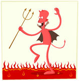 Dancing satan Royalty Free Stock Photo