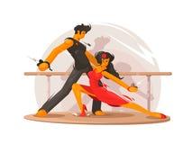 Dancing school concept Royalty Free Stock Photos