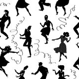 Dancing seamless pattern Stock Images