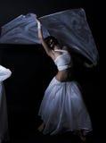Dancing in semidarkness Stock Photography