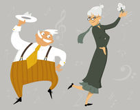 Dancing senior couple Stock Photos