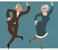 Dancing seniors Royalty Free Stock Photo