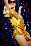 Dancing sexy della ragazza Immagini Stock