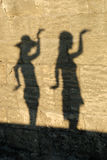 Dancing shadows Stock Image