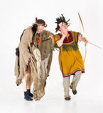 Dancing shamans Royalty Free Stock Photo